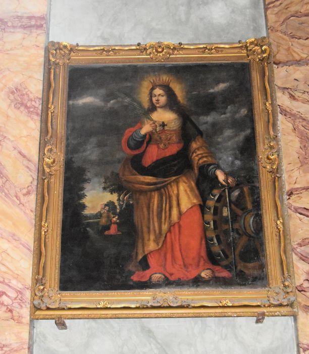 Tableau et son cadre : Sainte Catherine d'Alexandrie