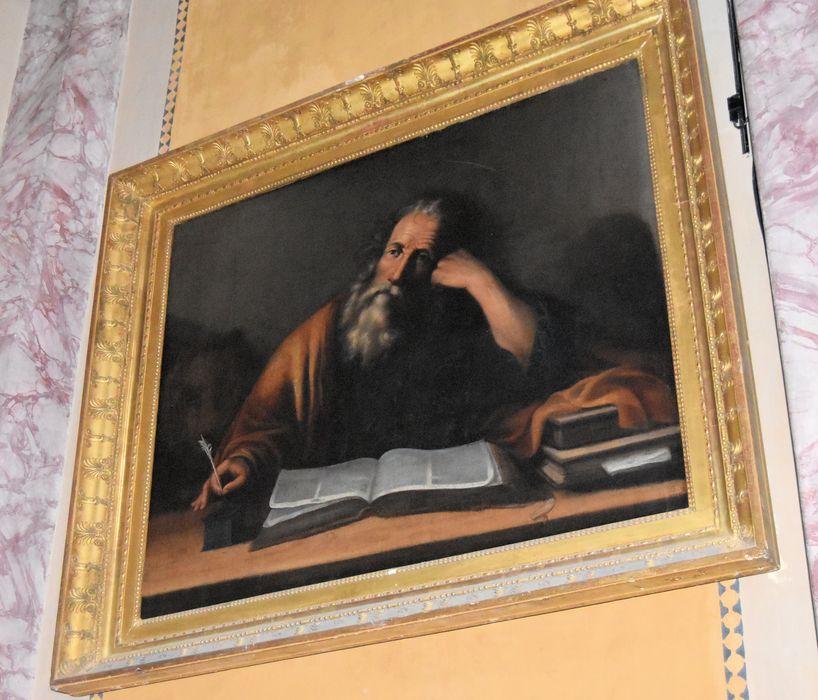 Tableau et son cadre : Saint Marc écrivant l'Evangile