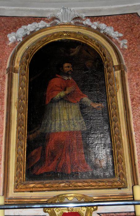 Autel et retable de la chapelle Saint-Charles et son tableau : Saint Charles Borromée