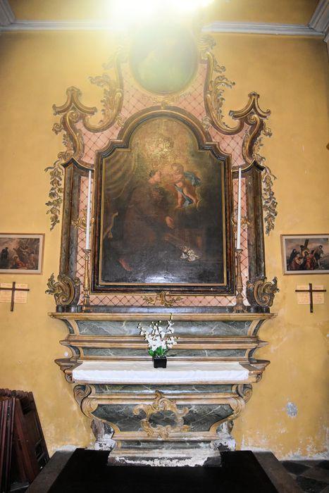 Autel retable de saint Antoine-de-Padoue, 2 tableaux : Saint Antoine de Padoue, le Baptême du Christ