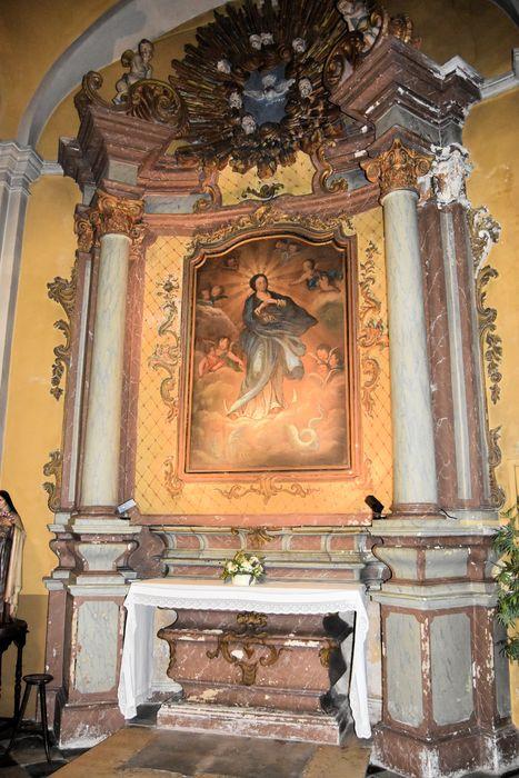 Autel retable de l'Immaculée Conception, tableau : la Vierge de l'Immaculée Conception