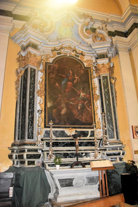 Autel retable des Ames du Purgatoire, tableau : Saint Grégoire le Grand et saint Michel intercédant auprès de la Vierge pour les Ames du Purgatoire
