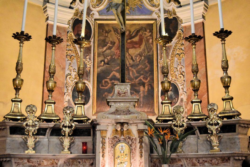 autel, retable (maître-autel), vue partielle