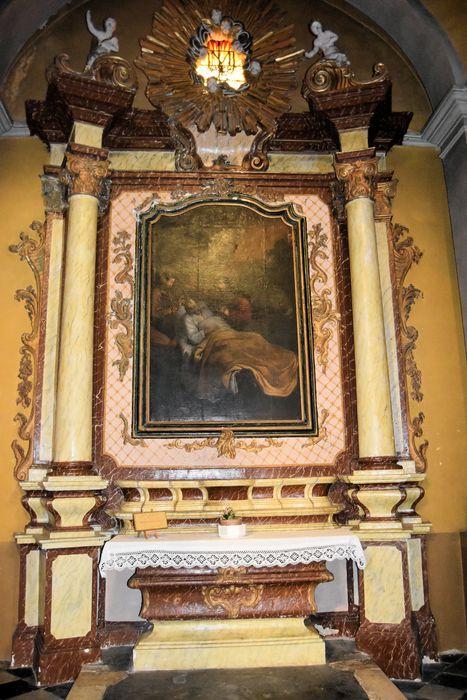 Autel, retable, tableau : la Mort de saint Joseph