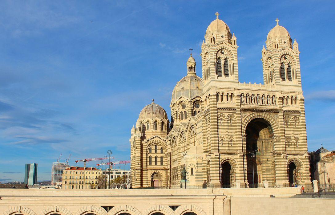 Cathédrale Sainte-Marie-Majeure, dite Nouvelle Major: Ensemble sud-ouest, vue générale