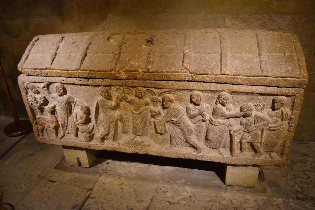 Sarcophage de la Traditio Legis, du Sacrifice d'Abraham et de la Guérison de l'aveugle