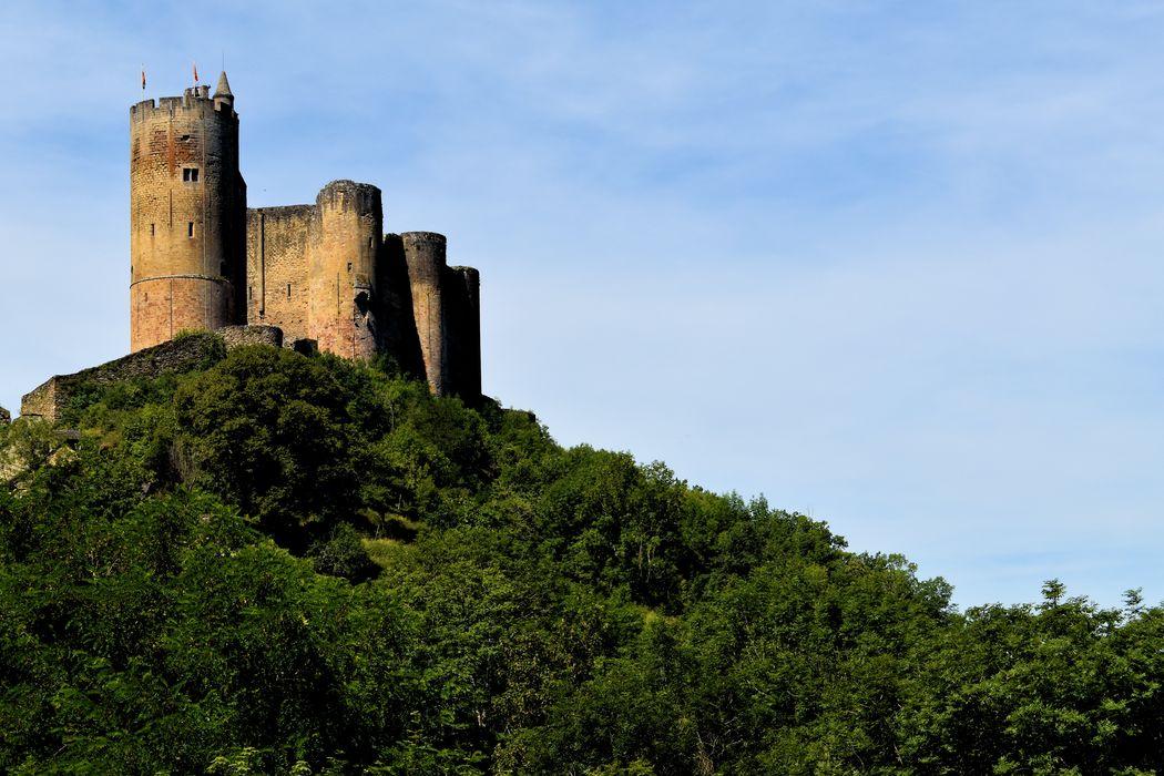 Château: Vue générale du château dans son environnement