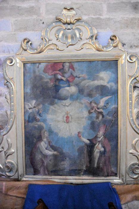 Tableau : Saint Augustin et sainte Monique adorant le Sacré-Coeur et la sainte Trinité