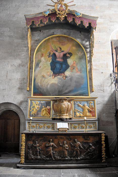 tableau, cadre du maître-autel: Assomption (l')