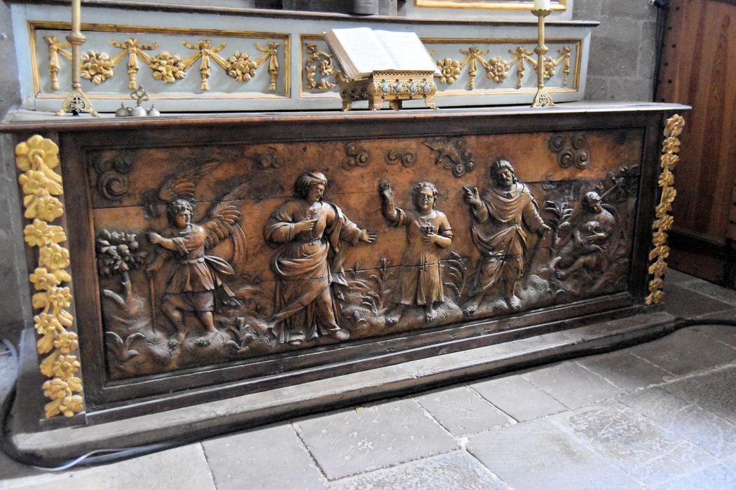 autel, devant d'autel (maître-autel): Enfance du Christ (l')