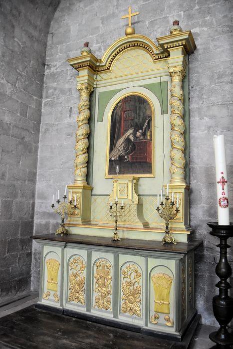 Autel, retable et tableau : Saint Bruno ou Saint Bernard ?