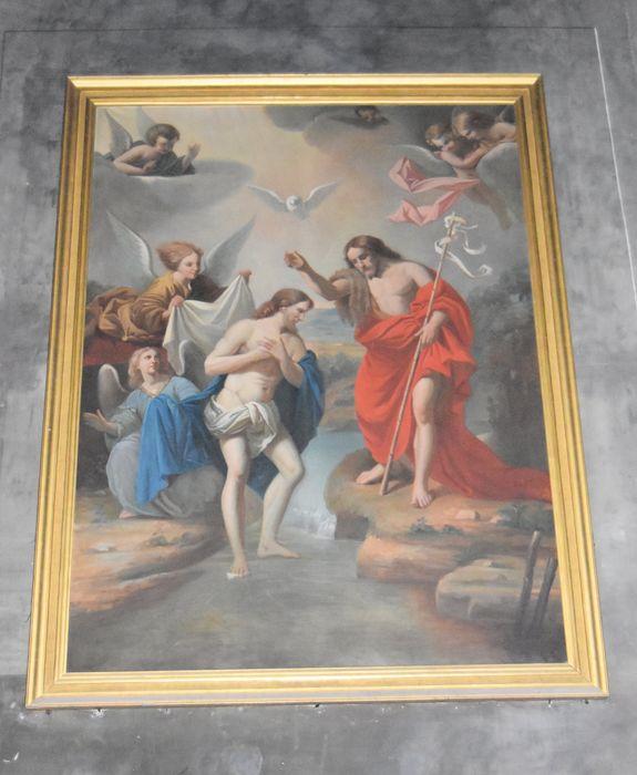 Tableau avec son cadre : Baptême du Christ