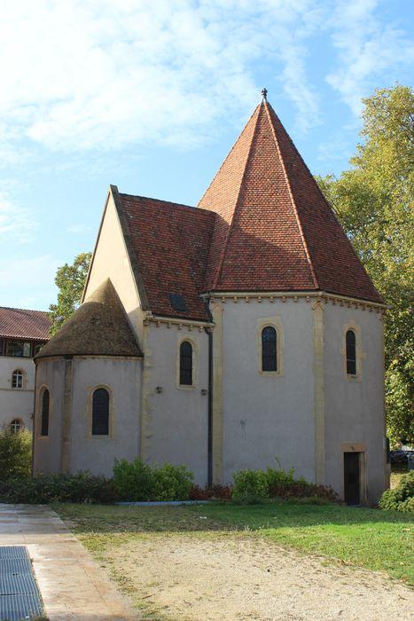 Chapelle des Templiers: Façade latérale nord, vue générale