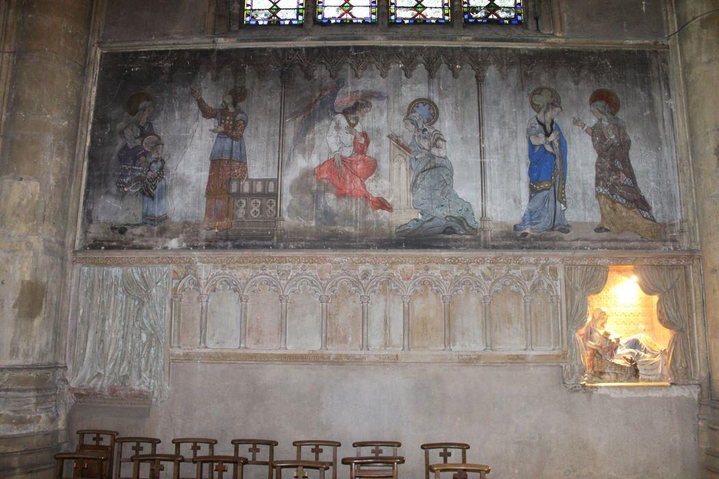 Peinture monumentale : Trois scènes de la vie de la Vierge