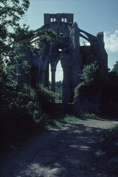 Eglise abbatiale en ruines : le choeur