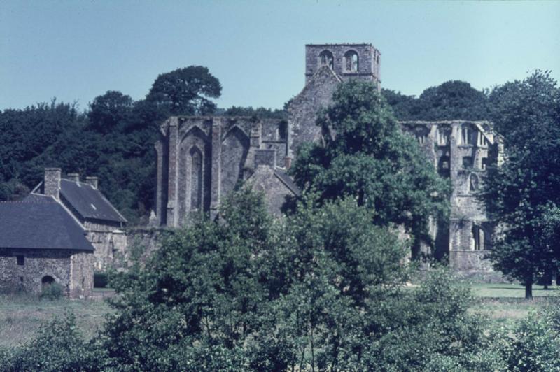 Ensemble sud de l'église abbatiale en ruines