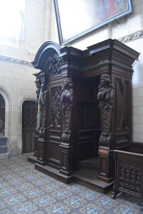 Confessionnal de la chapelle du Saint-Sépulcre
