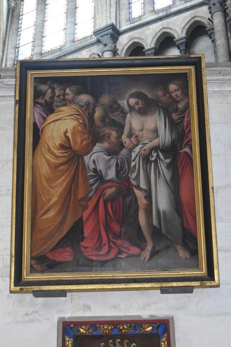 Tableau : incrédulité de saint Thomas (l')