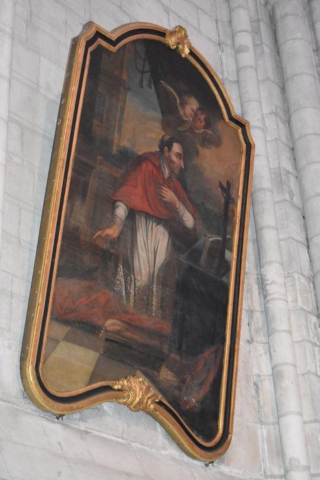 Tableau et cadre : Saint Charles Borromée en prière