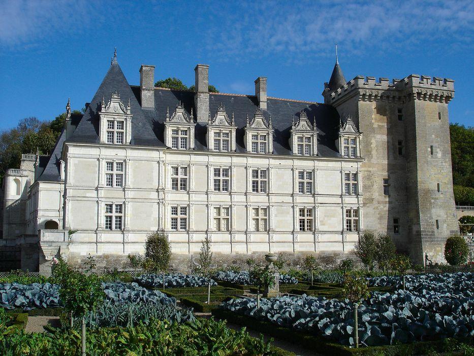 Château de Villandry: Façade ouest, vue générale