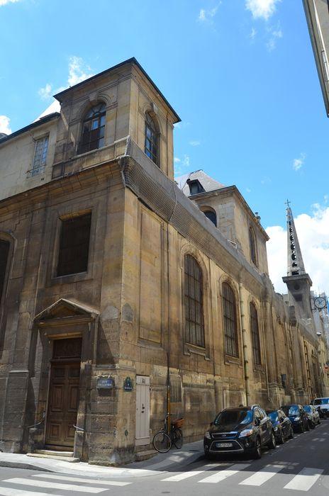 Eglise Saint-Louis-en-l'Ile: Façade latérale nord, vue générale