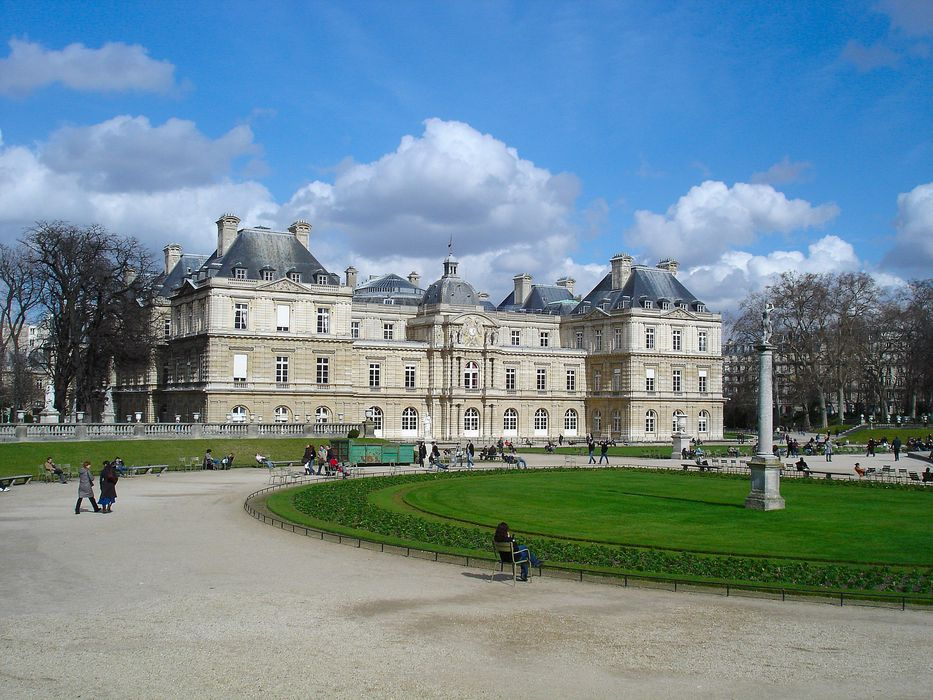 Palais du Luxembourg, actuellement Sénat: Façade sud, vue générale