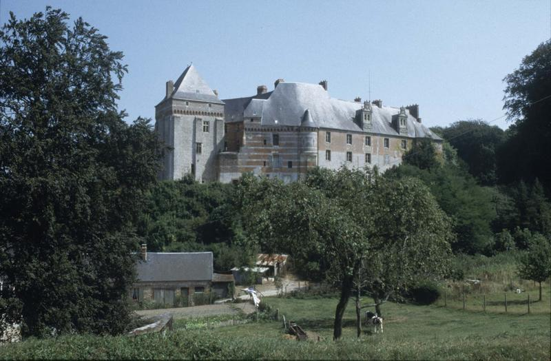 Le donjon et une aile du château-fort