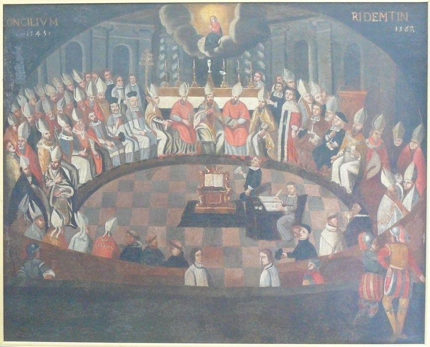 Tableau : le Concile de Trente, 1545