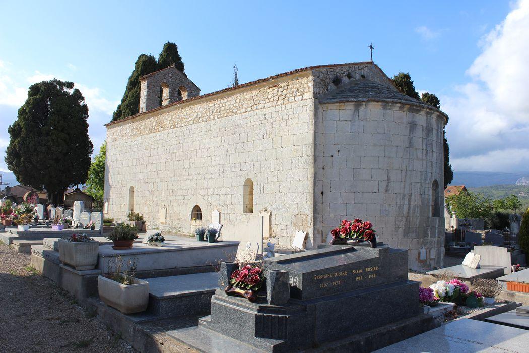Chapelle du cimetière: ensemble sud-est, vue générale