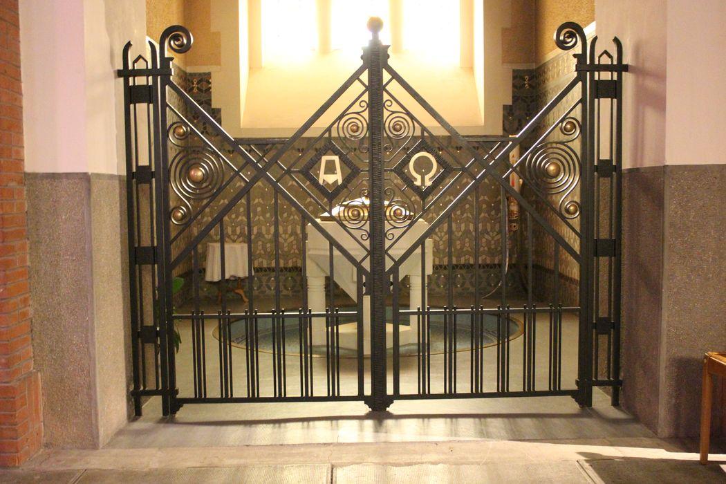 clôture des fonts baptismaux (grille)