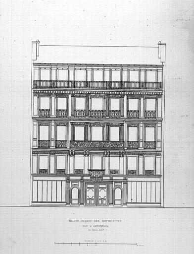 Gravure : Elévation de la façade