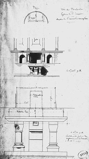 Projet d'autel de la chapelle de l'Immaculée Conception