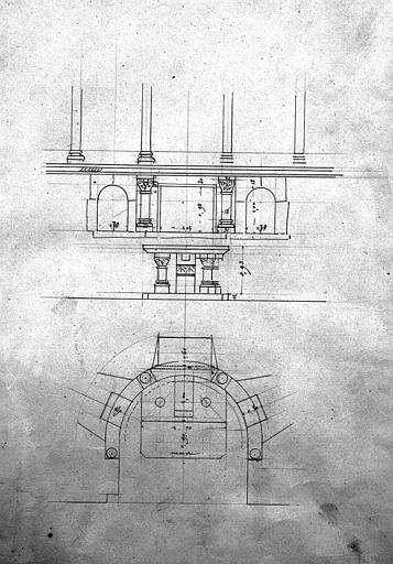 Elévation et plan de la chapelle Saint-Thomas d'Aquin (?)