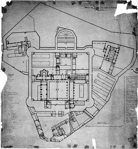 Ancienne abbaye royale de Fontevraud, actuellement centre culturel de l'Ouest