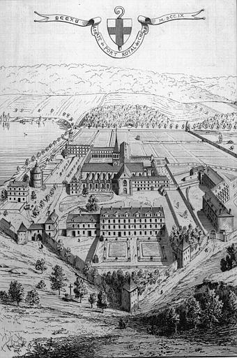 Gravure : Vue générale en 1709