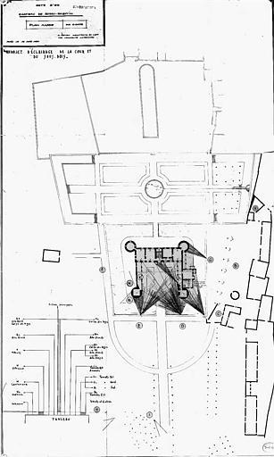 Projet d'éclairage de la cour et du sous-bois : Plan