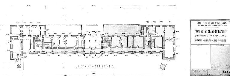 Bâtiment d'habitation : Plan du rez-de-chaussée