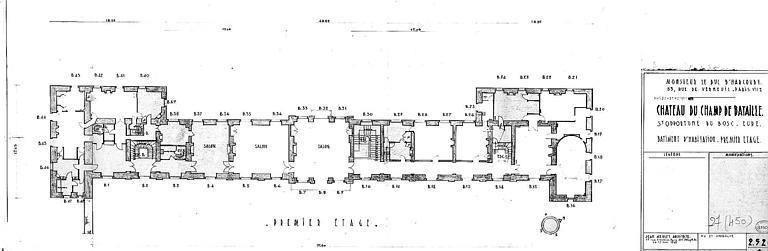 Bâtiment d'habitation : Plan du 1e étage