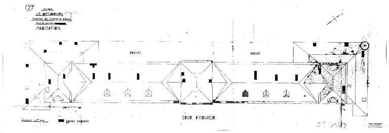 Bâtiment d'habitation : Plan de la toiture