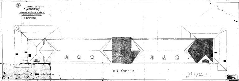 Communs : Plan de la toiture