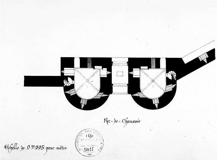 Porte de la Gardette : Plan du rez-de-chaussée