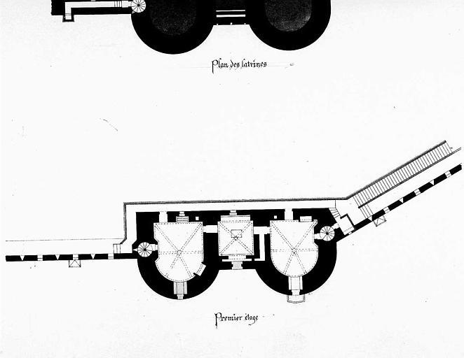 Porte de la Gardette : Plan du 1e étage