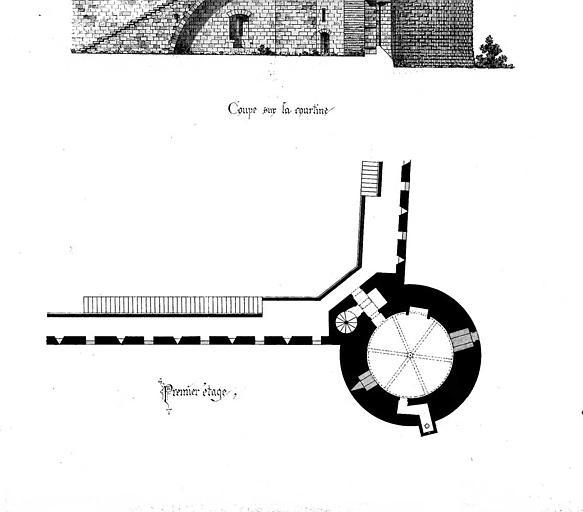 Tour de Villeneuve : Plan du 1e étage