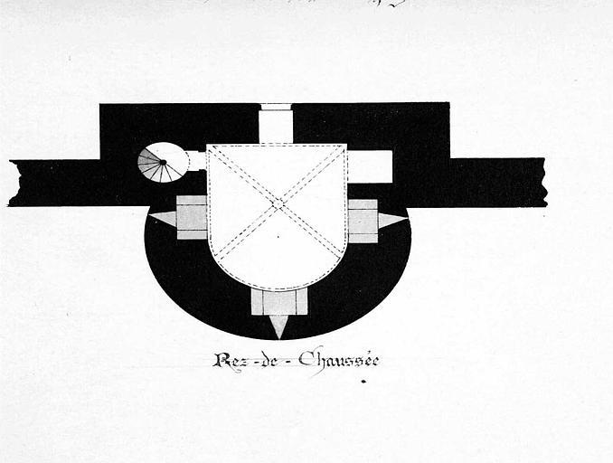 Tour de la Mêche : Plan du rez-de-chaussée