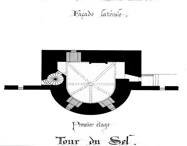 Tour du Sel : Plan du 1e étage