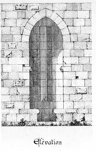 Porte de l'Arsenal : Plan de l'archère à deux étages du 14e