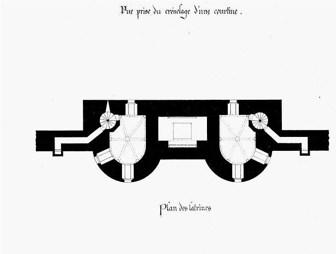 Porte de la Marine : Plan des latrines