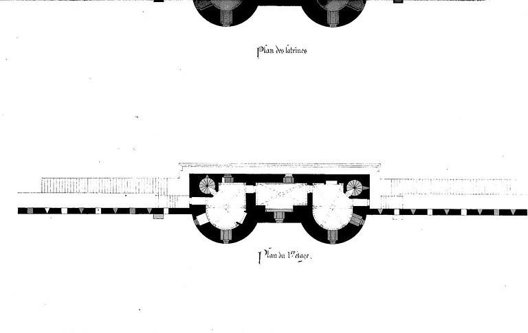 Porte de la Marine : Plan du 1e étage
