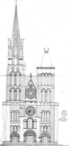 Elévation de la façade ouest