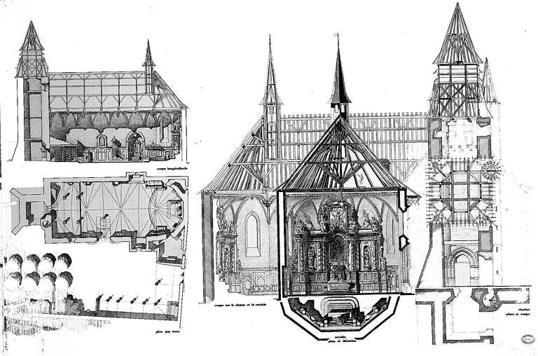 Eglise paroissiale et restes du cloître